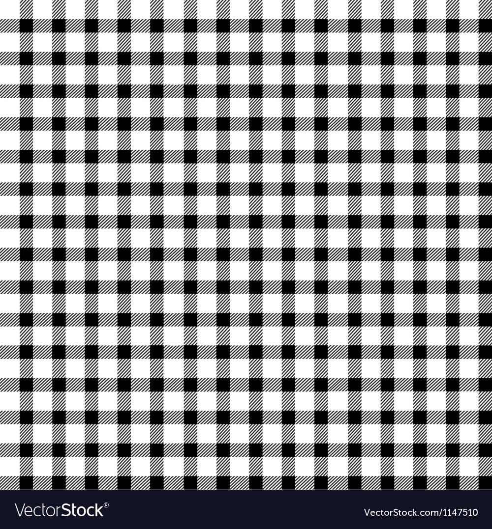 Seamless retro white-black square tablecloth vector | Price: 1 Credit (USD $1)
