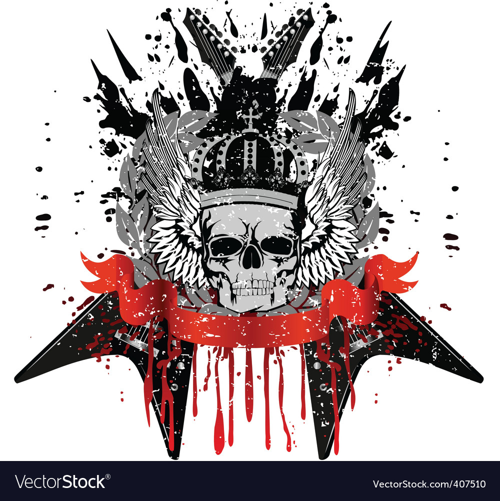 Skull with crown vector | Price:  Credit (USD $)