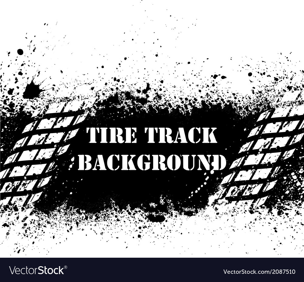 Tire track background on ink blots vector | Price: 1 Credit (USD $1)