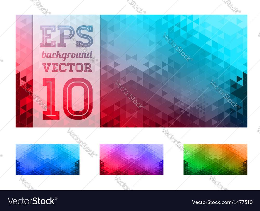 Triangle retro background vector | Price: 1 Credit (USD $1)