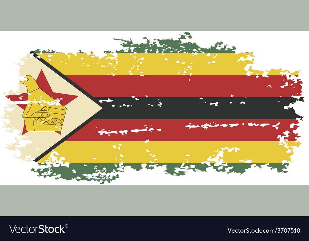 Zimbabwean grunge flag vector | Price: 1 Credit (USD $1)