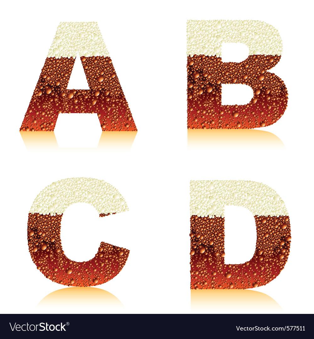 Alphabet dark beer vector | Price: 1 Credit (USD $1)
