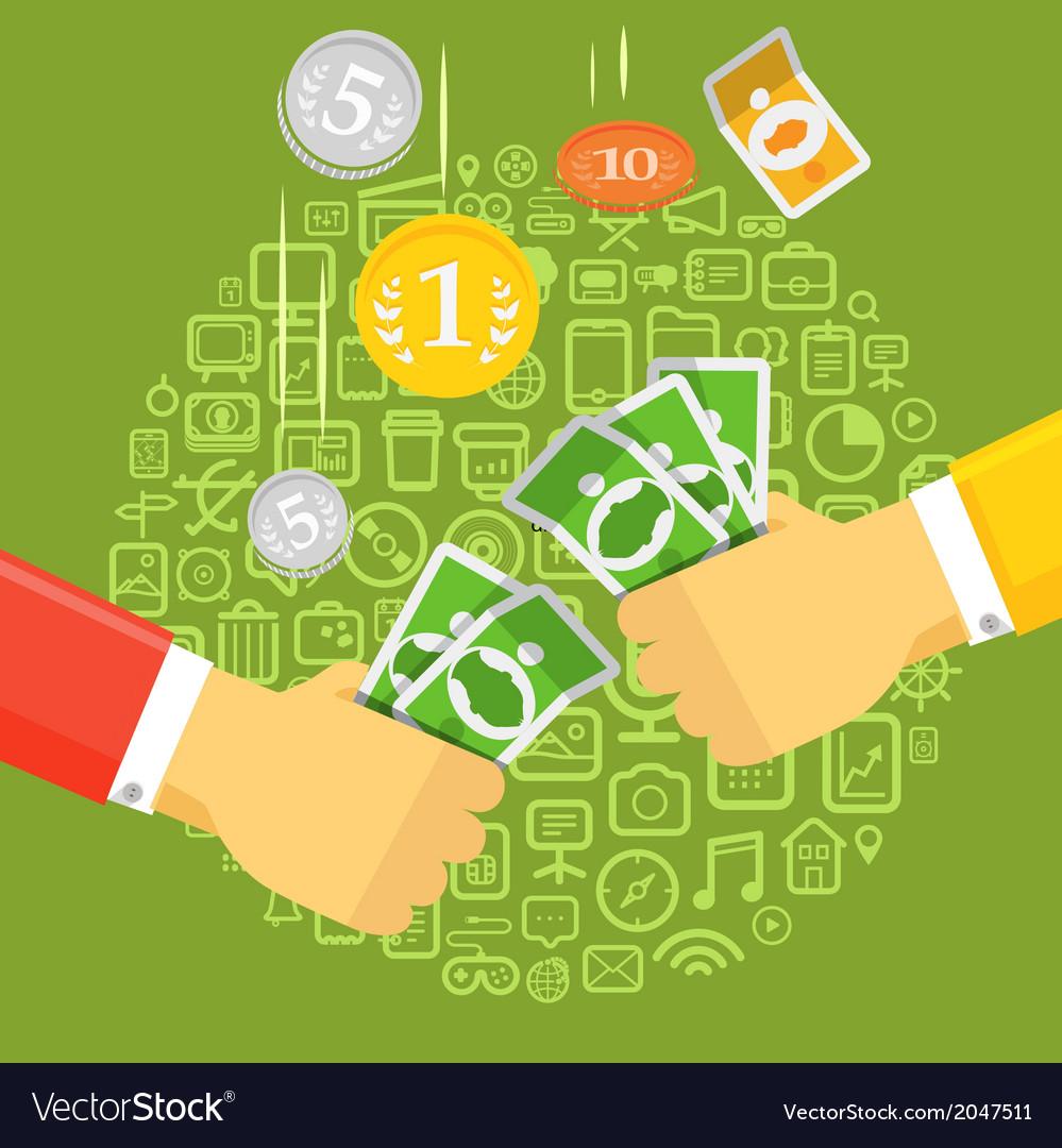 Banknotes vector | Price: 1 Credit (USD $1)