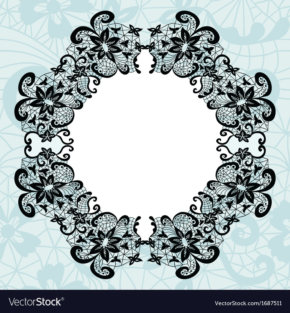 Elegant doily on lace gentle background vector | Price: 1 Credit (USD $1)