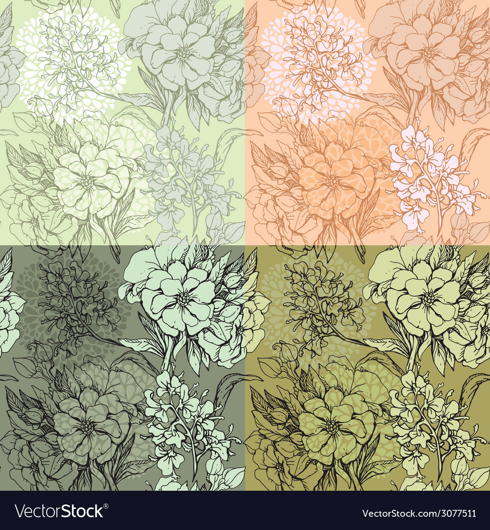 Flowers handdrawn 11 380 vector | Price: 1 Credit (USD $1)