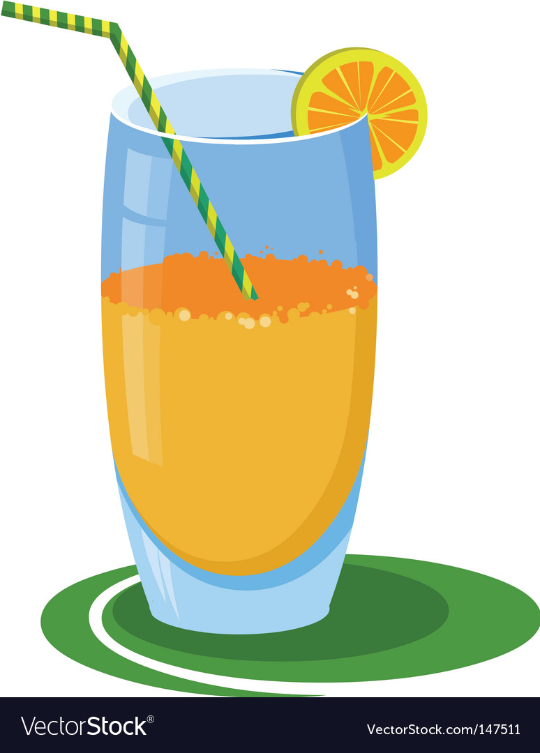 Glass of orange juice vector | Price: 1 Credit (USD $1)