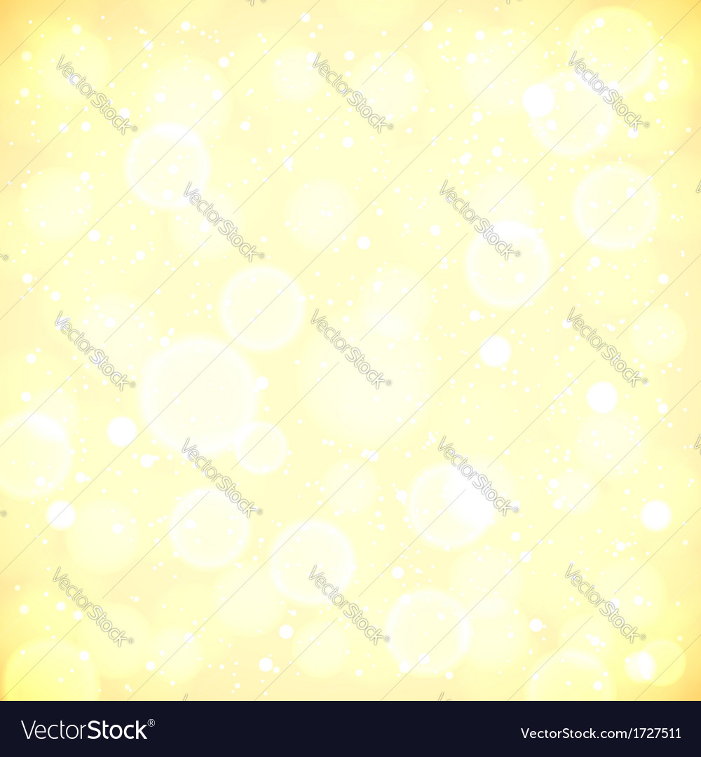 Golden lights blurred background with bokeh effect vector | Price: 1 Credit (USD $1)
