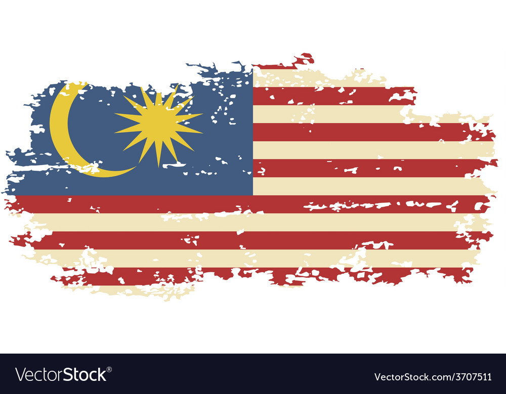 Malaysian grunge flag vector | Price: 1 Credit (USD $1)