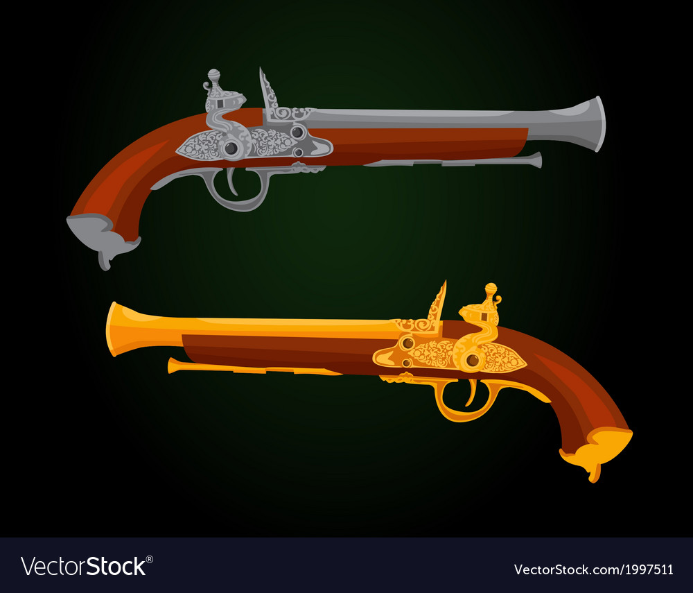Pistol 18th century vector | Price: 1 Credit (USD $1)