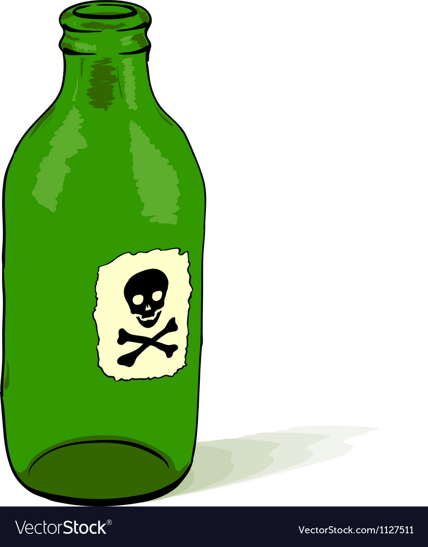 Poison bottle vector | Price: 1 Credit (USD $1)
