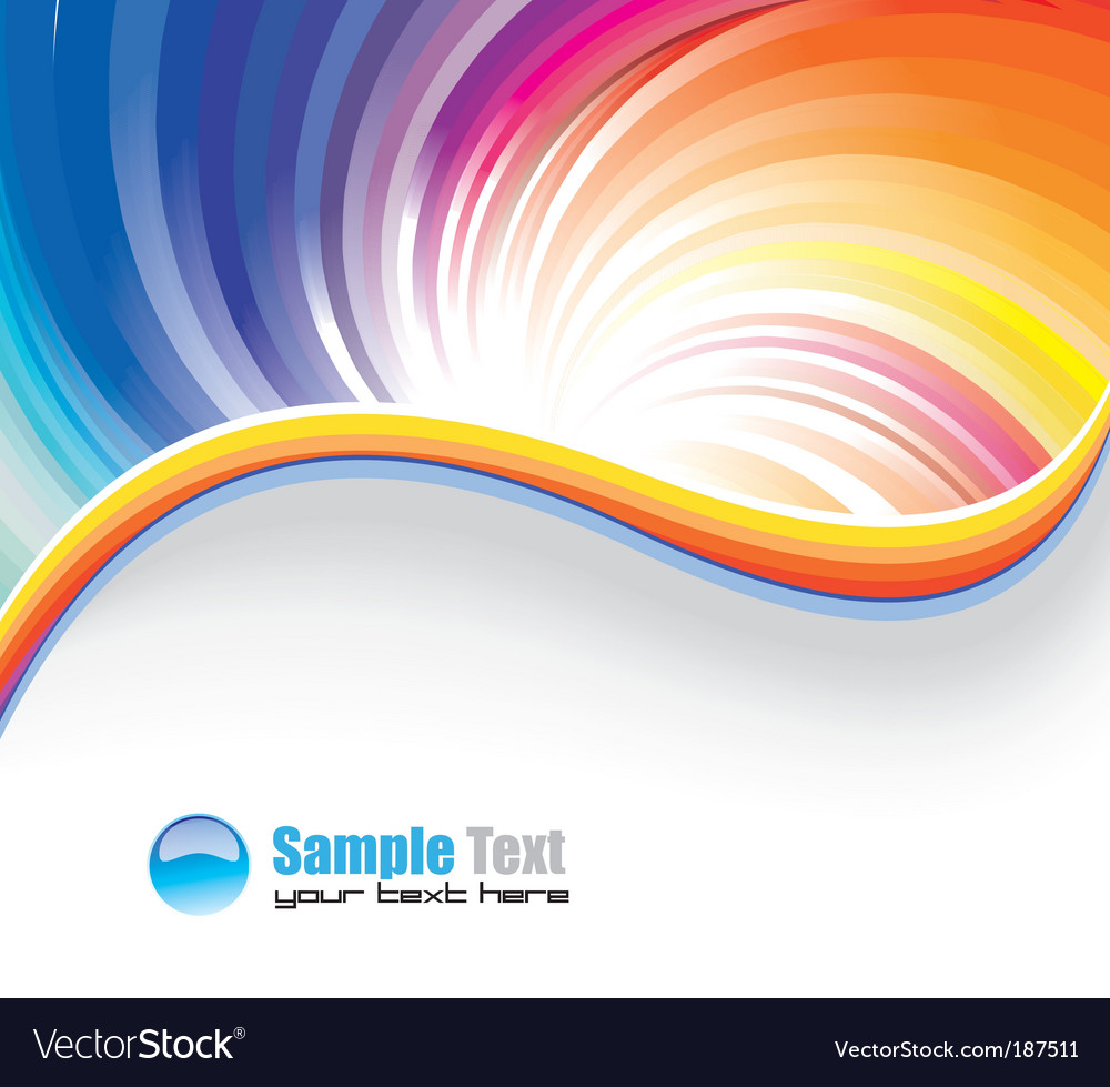 Rainbow background vector | Price: 3 Credit (USD $3)