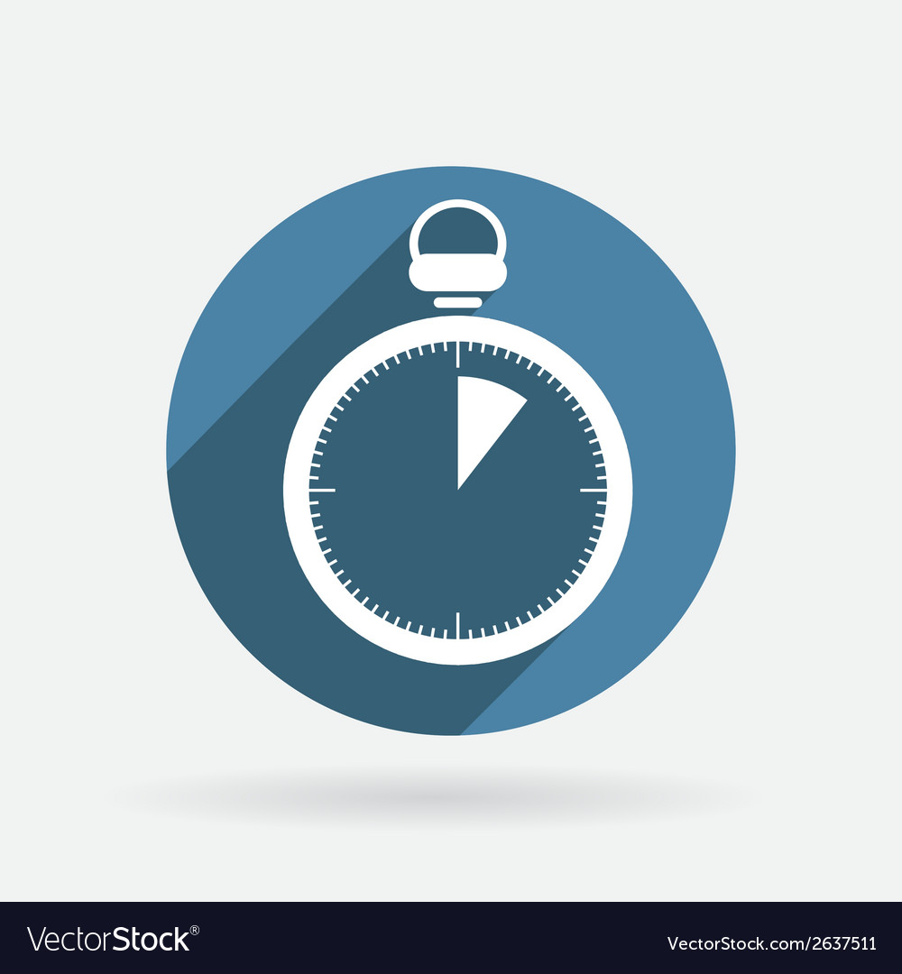 Stopwatch circle blue icon with shadow vector | Price: 1 Credit (USD $1)