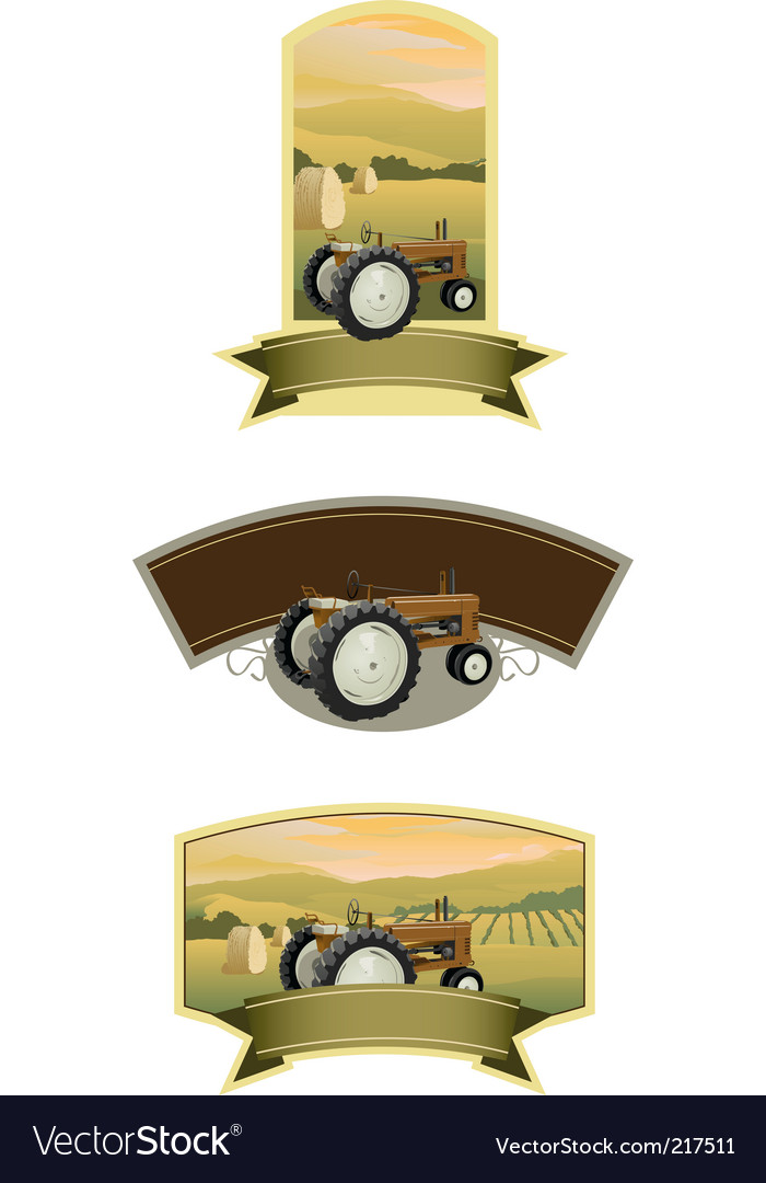 Tractor labels vector | Price: 1 Credit (USD $1)
