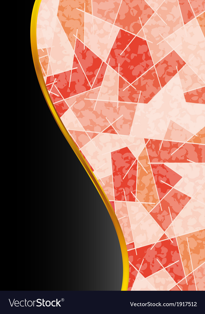Abstract decorative flyer vector | Price: 1 Credit (USD $1)