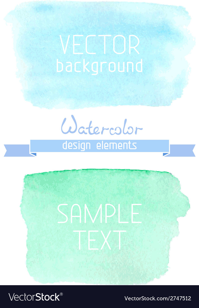 Abstract hand-drawn watercolor backgrounds vector | Price: 1 Credit (USD $1)