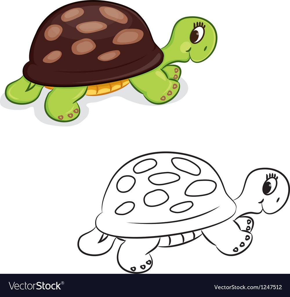 Cartoon turtle vector | Price: 1 Credit (USD $1)