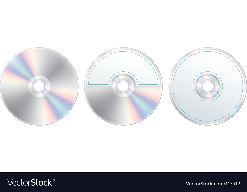 Compact disc with label set vector | Price: 1 Credit (USD $1)
