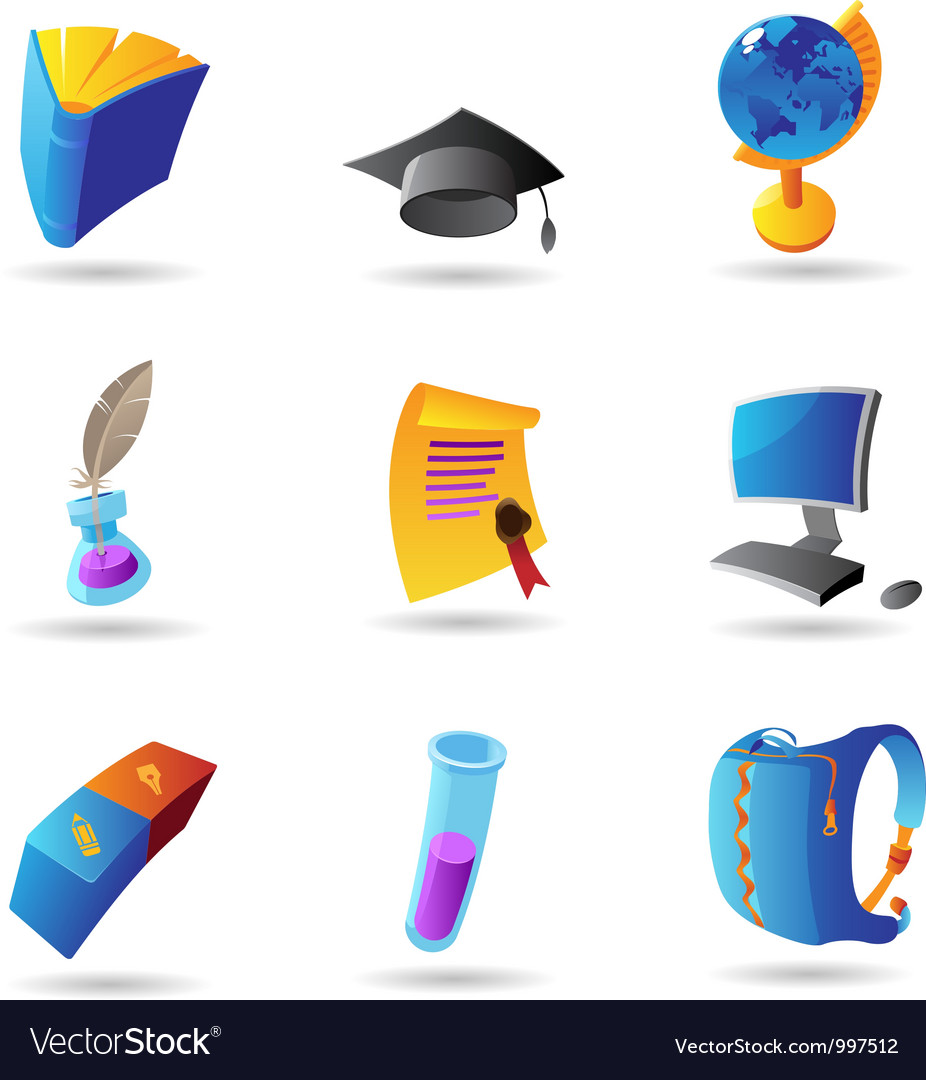 Icons for education vector | Price: 1 Credit (USD $1)
