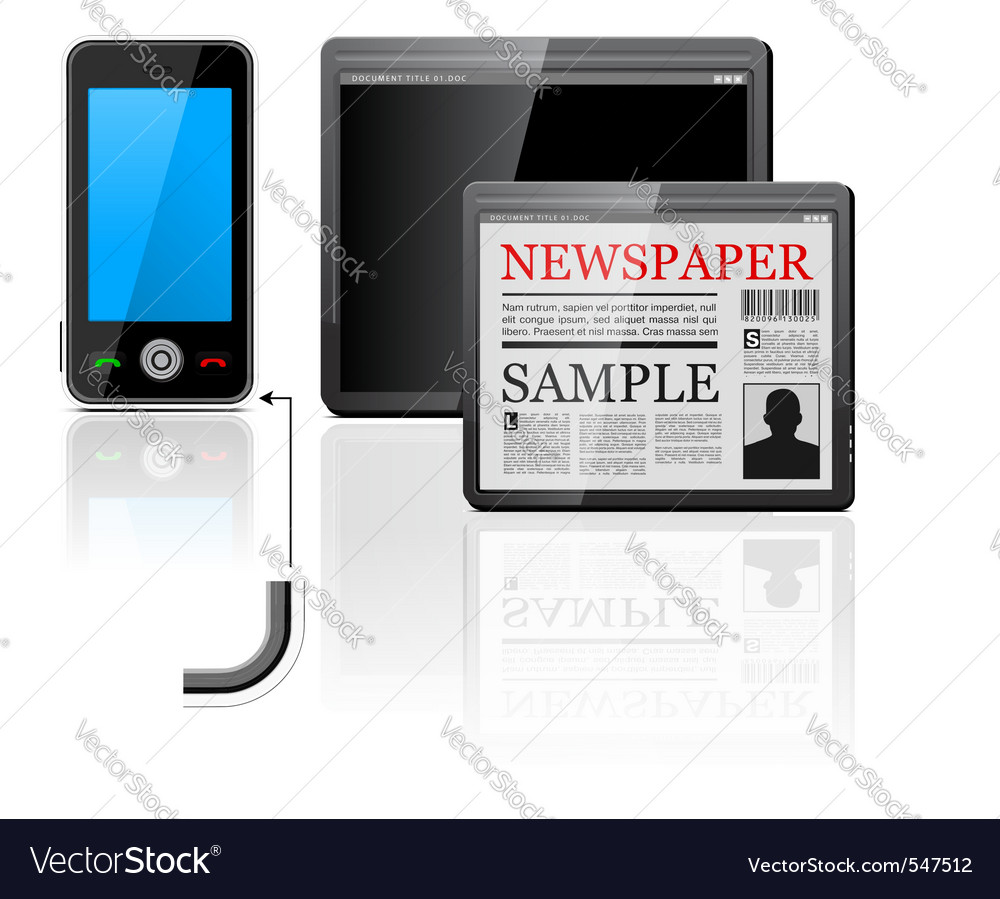 Mobile phone and tablet computer icons vector | Price: 3 Credit (USD $3)