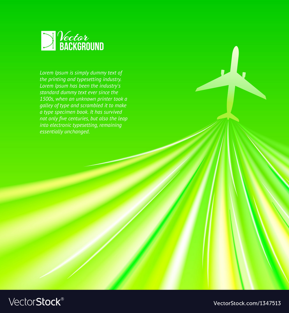 Airplane around the green vector | Price: 1 Credit (USD $1)