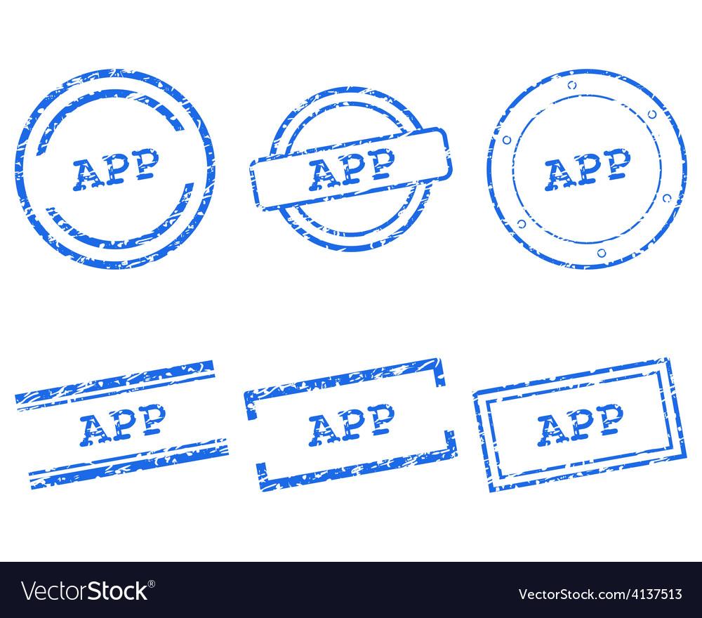 App stamps vector | Price: 1 Credit (USD $1)