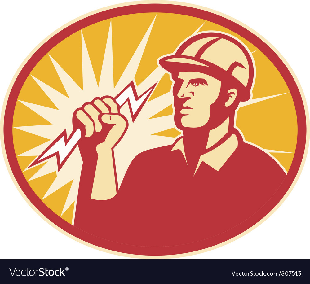 Electrician power line vector | Price: 1 Credit (USD $1)