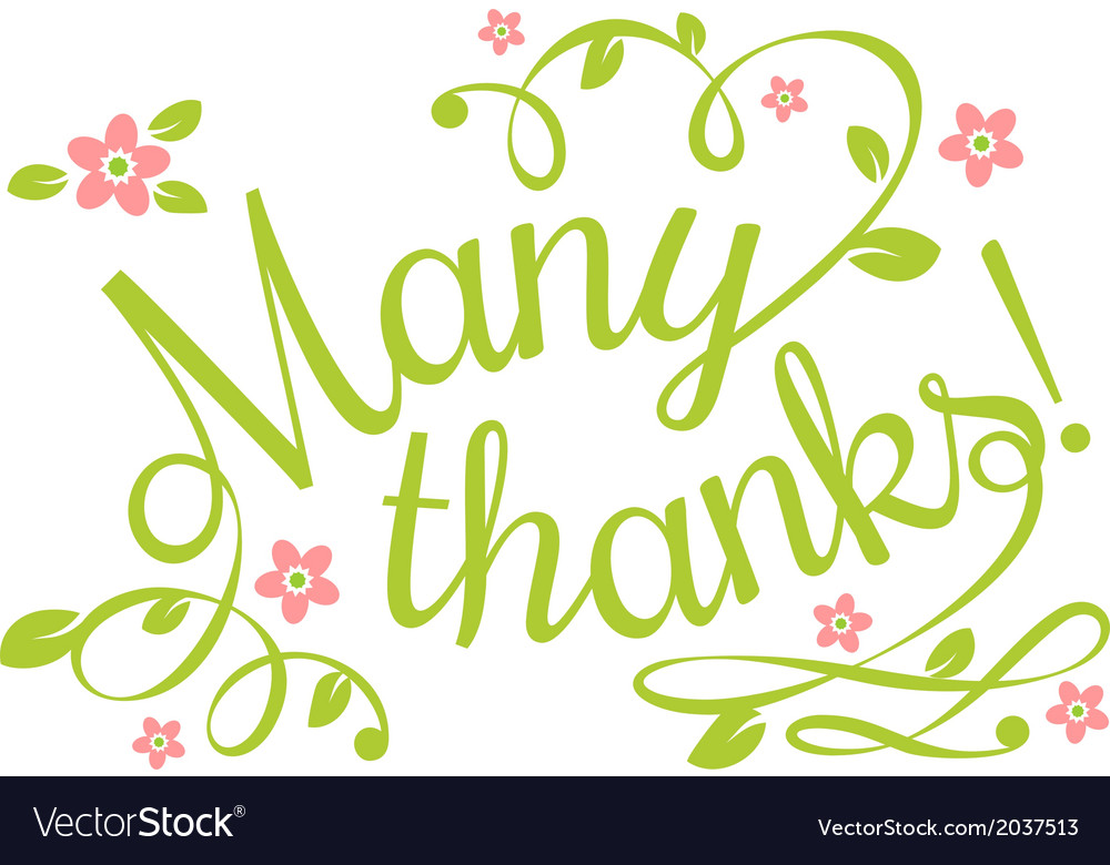 Many thanks vector   Price: 1 Credit (USD $1)