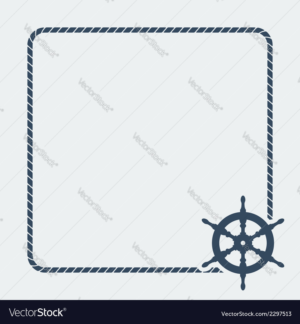 Marine background with steering wheel vector | Price: 1 Credit (USD $1)
