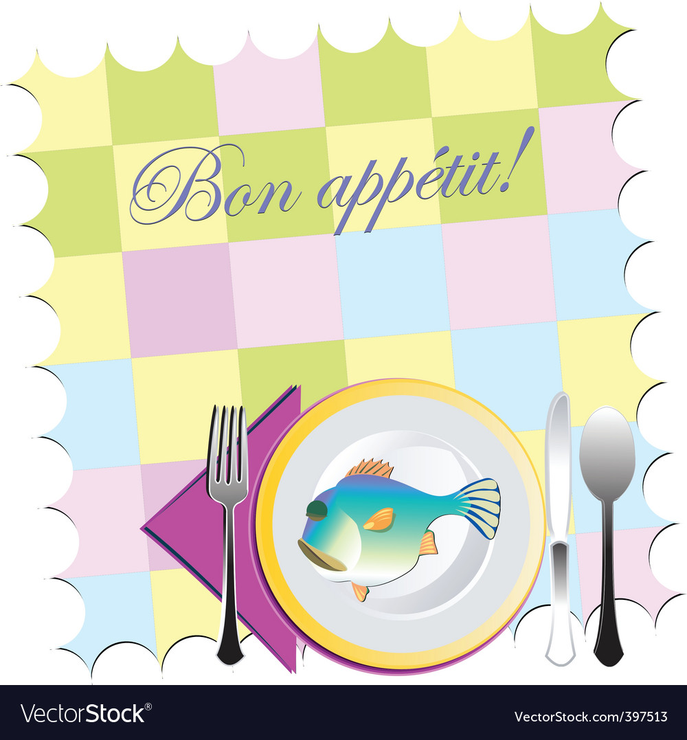 Placemat setting vector | Price: 1 Credit (USD $1)