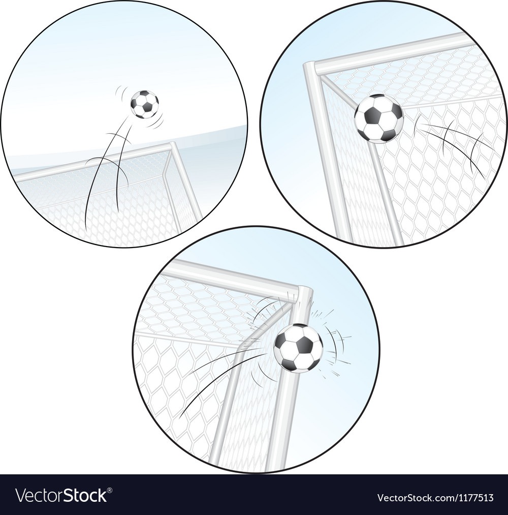 Scoring a goal football images vector | Price: 1 Credit (USD $1)