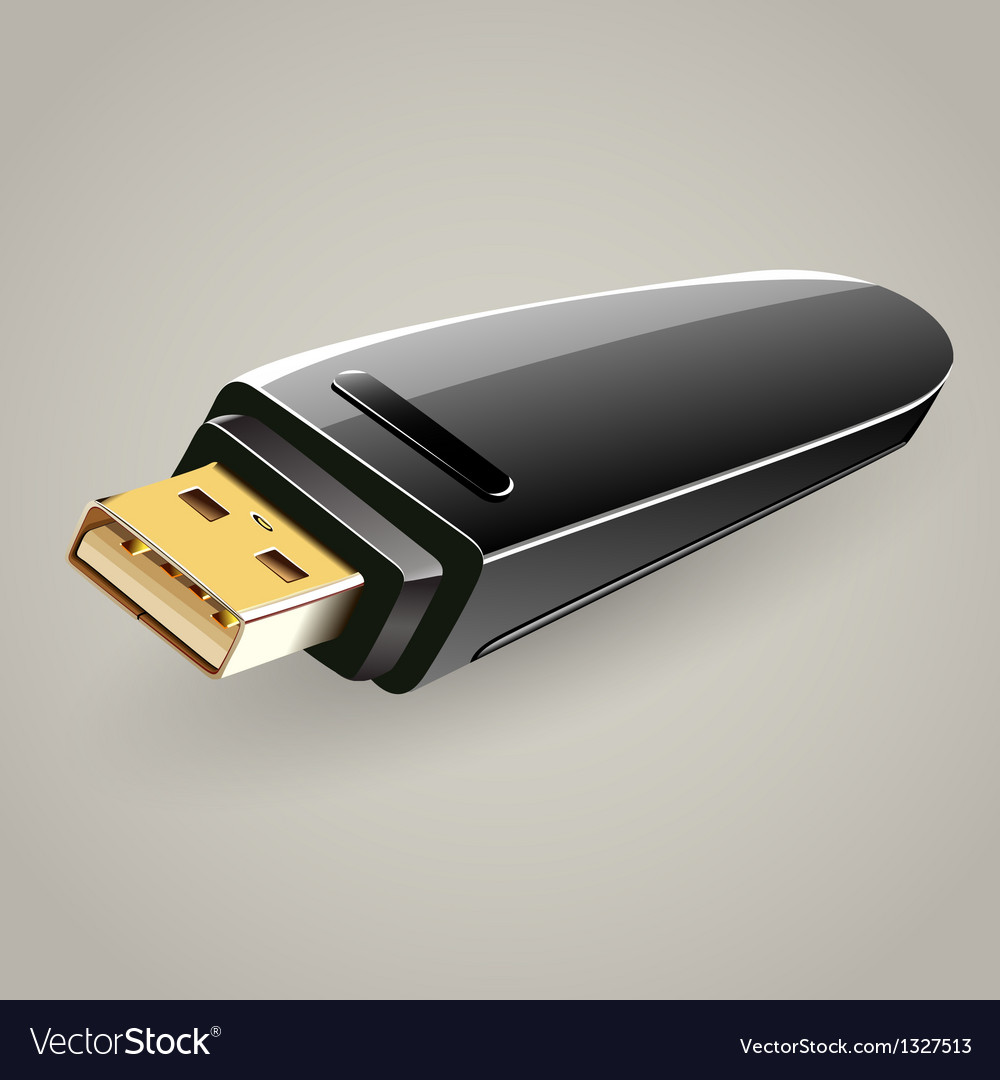 Usb flash drive memory storage vector | Price: 1 Credit (USD $1)