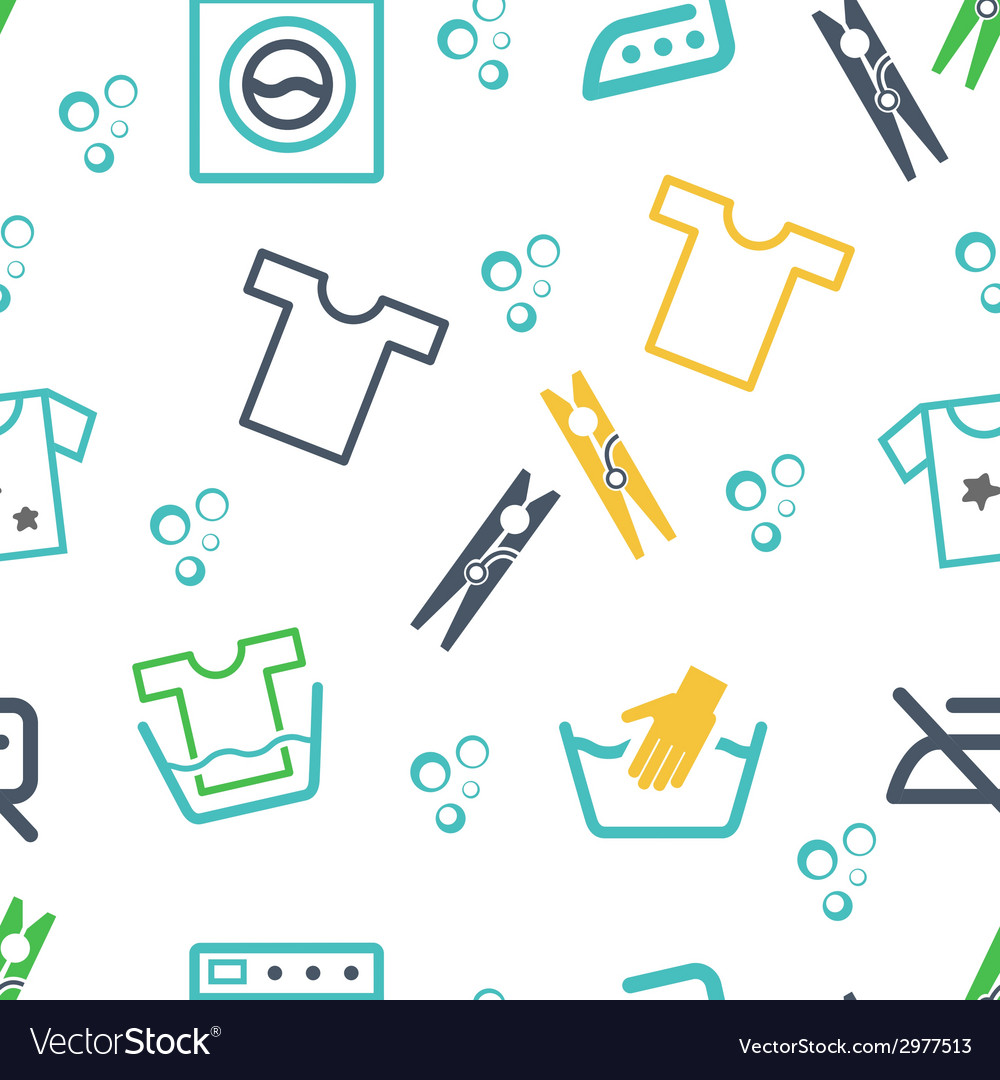 Various laundry themed icons vector | Price: 1 Credit (USD $1)