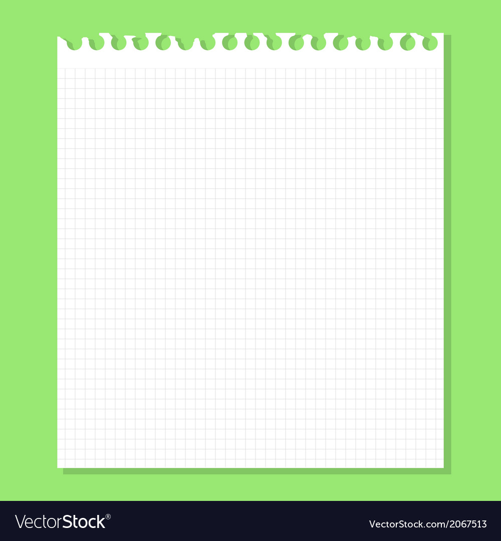 White piece of paper on a green vector | Price: 1 Credit (USD $1)