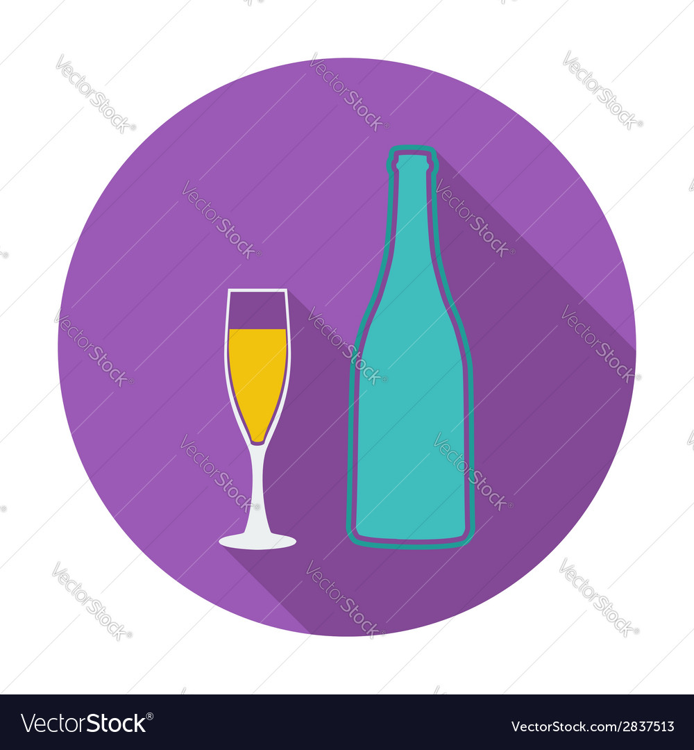 Wine flat icon vector | Price: 1 Credit (USD $1)