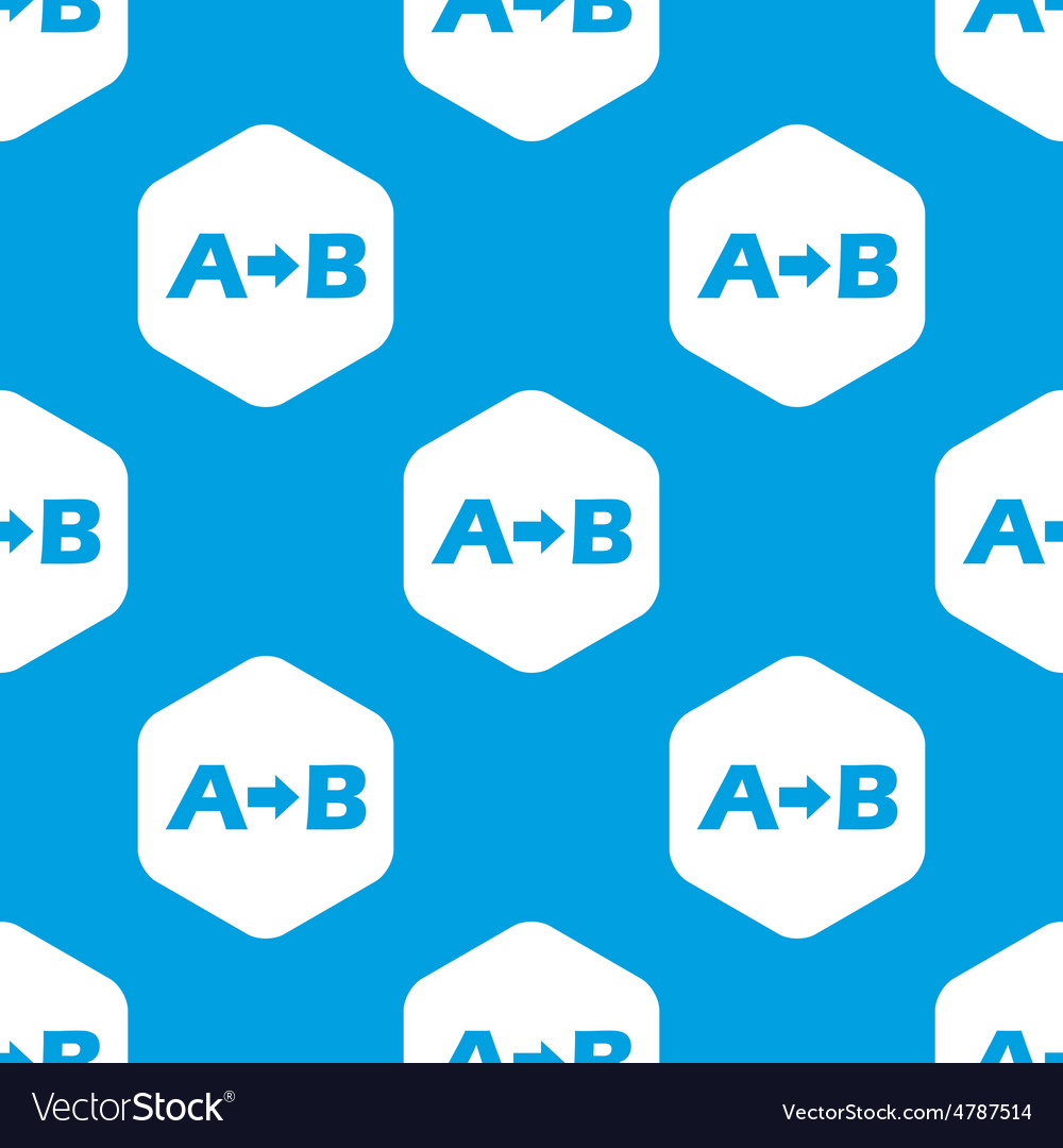 A to b hexagon pattern vector | Price: 1 Credit (USD $1)