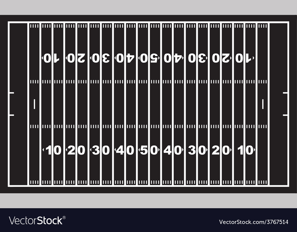 American football field vector | Price: 1 Credit (USD $1)