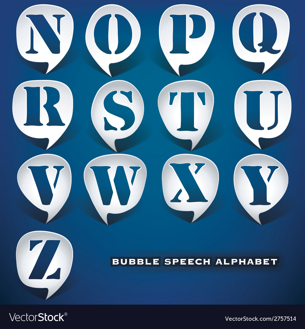 Bubble speech letters vector | Price: 1 Credit (USD $1)