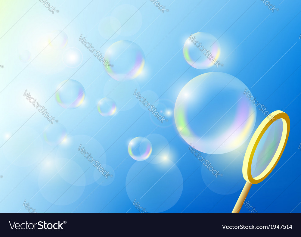 Bubbles against the blue sky vector | Price: 1 Credit (USD $1)