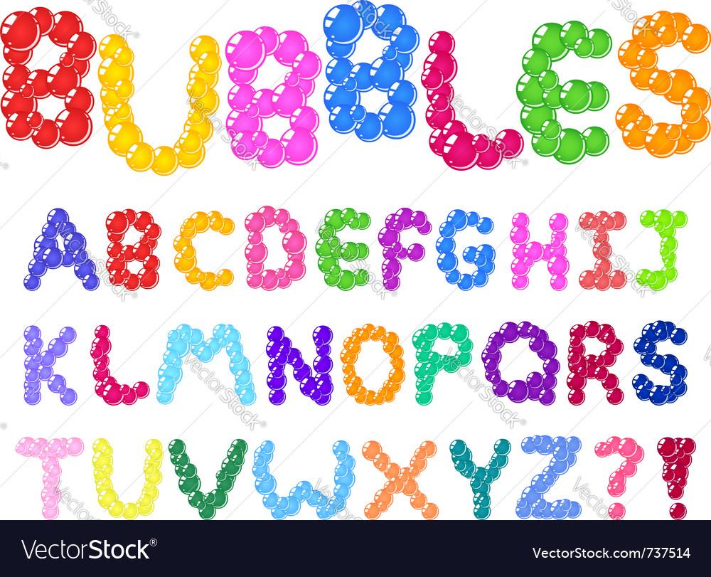 Bubbles alphabet vector | Price: 1 Credit (USD $1)