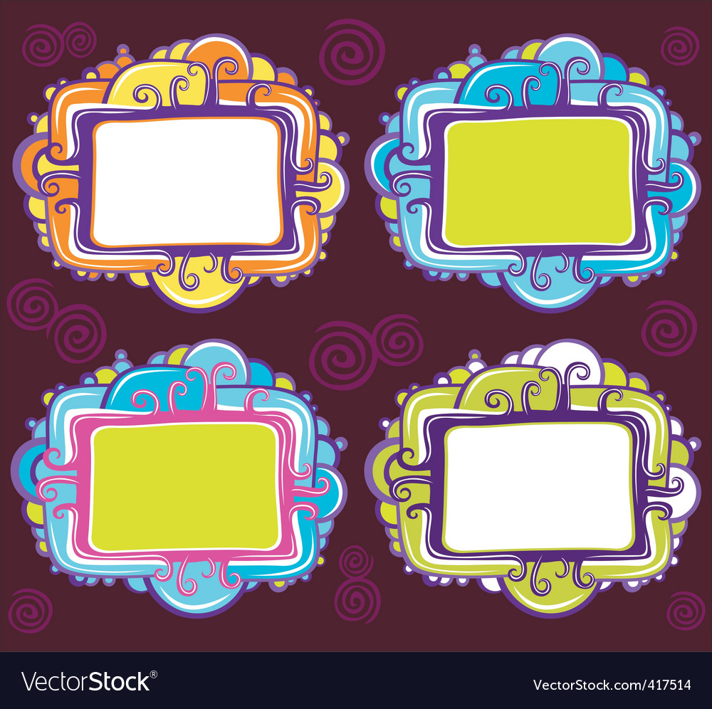 Cute design of retro frames vector | Price: 3 Credit (USD $3)