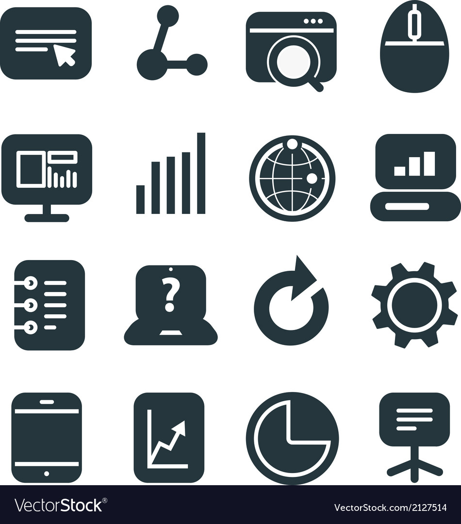 Different seo icons set vector | Price: 1 Credit (USD $1)