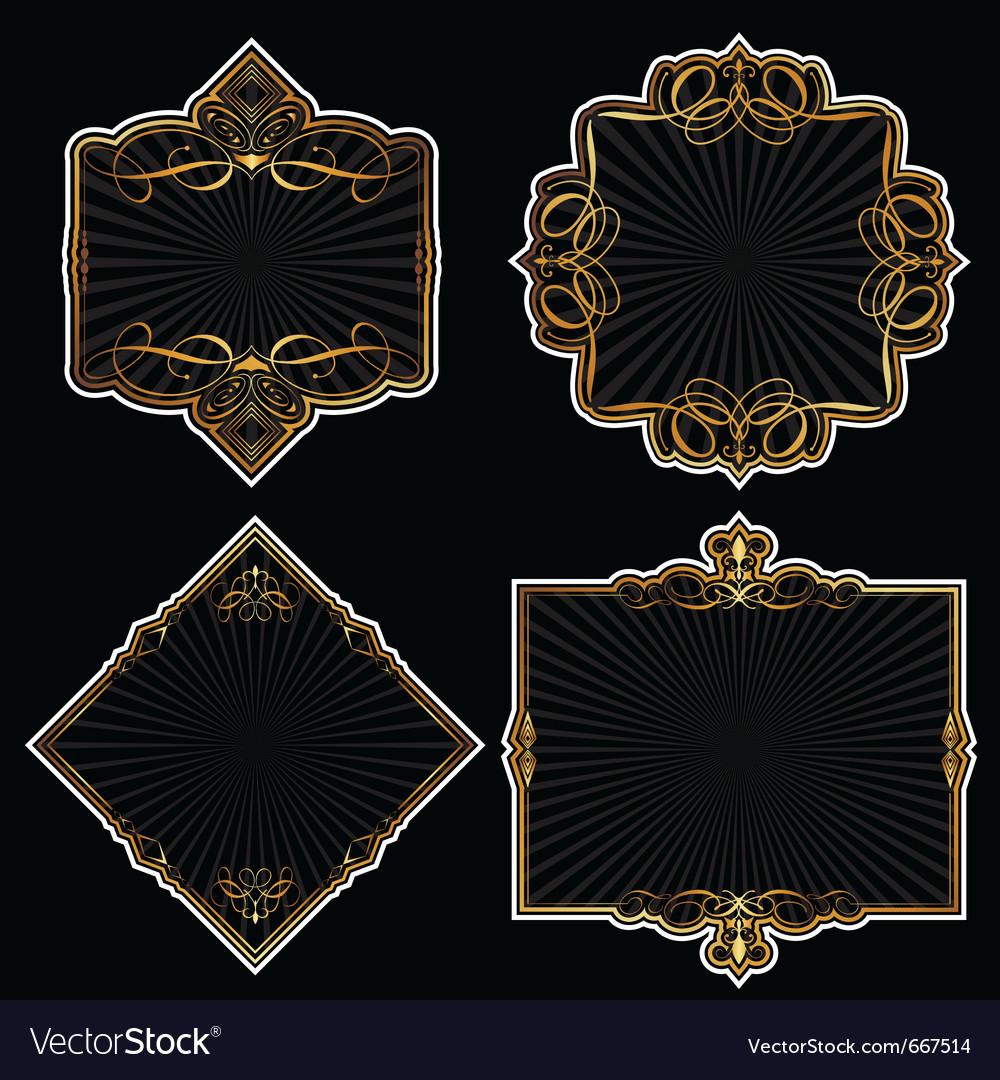 Elegant frames vector | Price: 1 Credit (USD $1)