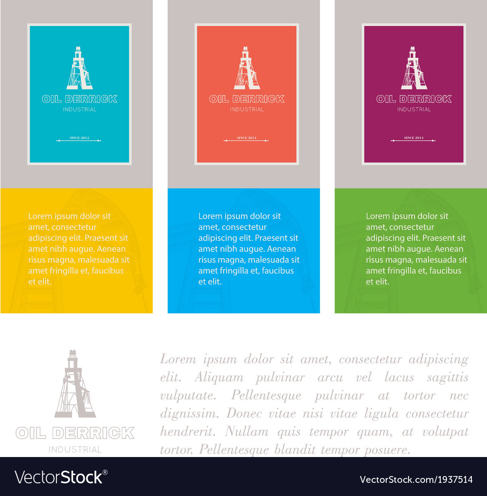 Industry cards derrick symbol vector | Price: 1 Credit (USD $1)