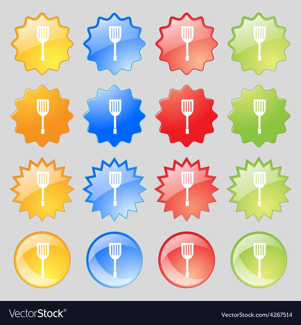 Kitchen appliances icon sign big set of 16 vector | Price: 1 Credit (USD $1)