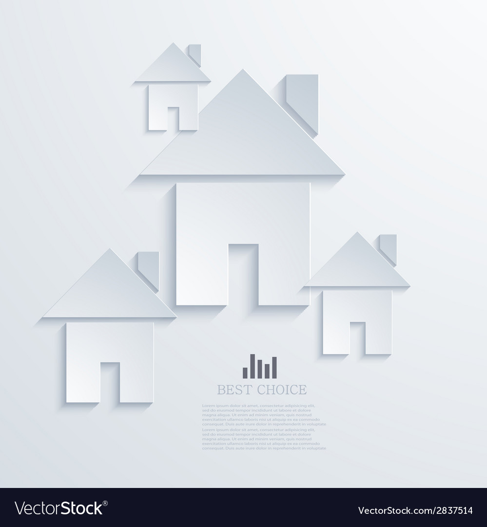 Modern real estate background vector | Price: 1 Credit (USD $1)