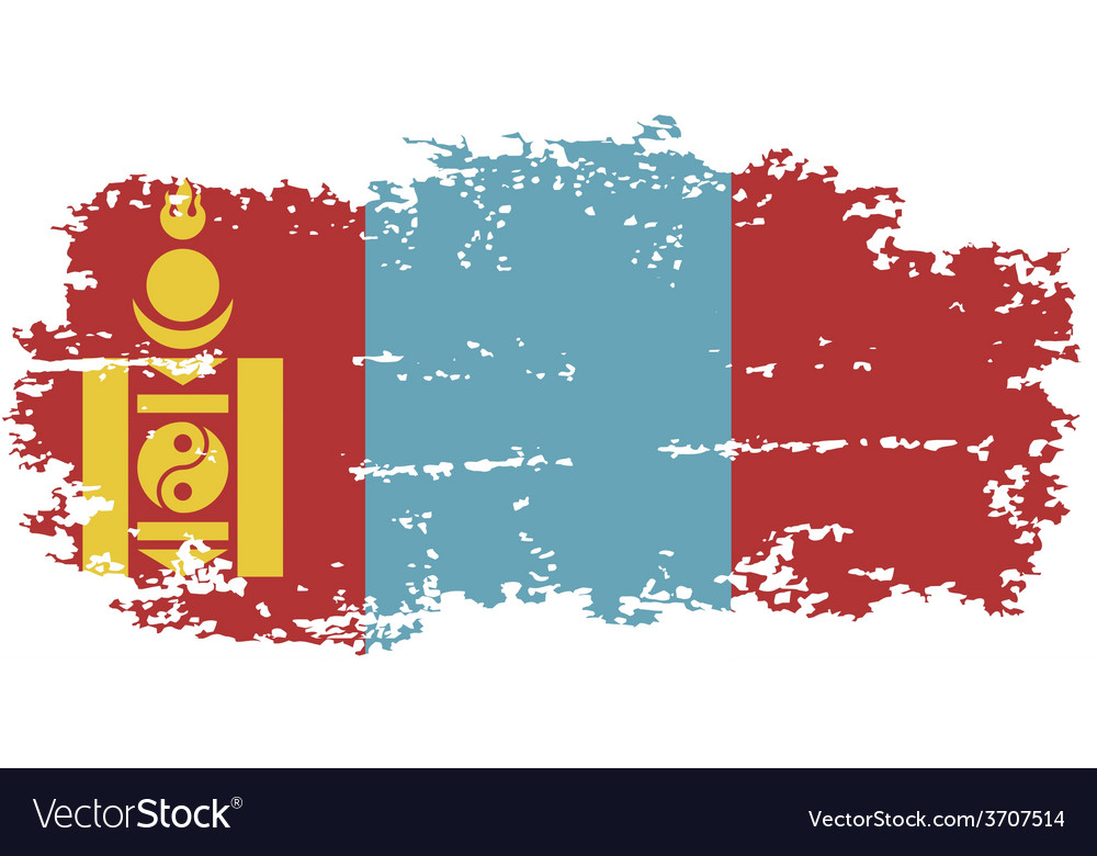 Mongolian grunge flag vector | Price: 1 Credit (USD $1)