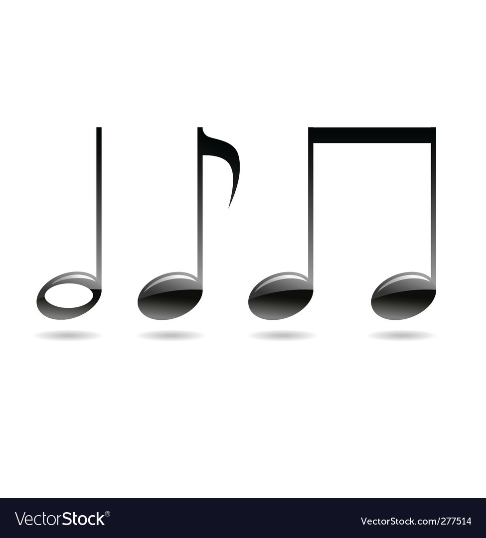 Musical signs notes vector | Price: 1 Credit (USD $1)
