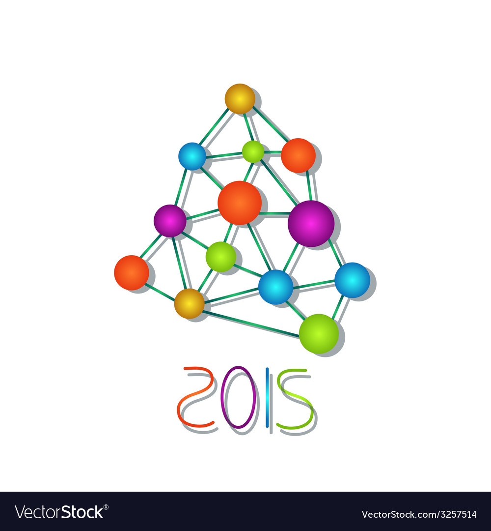 New year tree vector | Price: 1 Credit (USD $1)