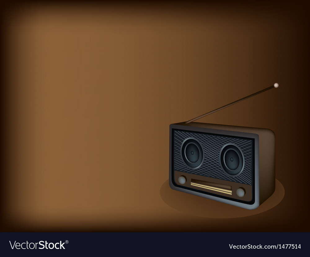 Old radio brown background vector | Price: 1 Credit (USD $1)