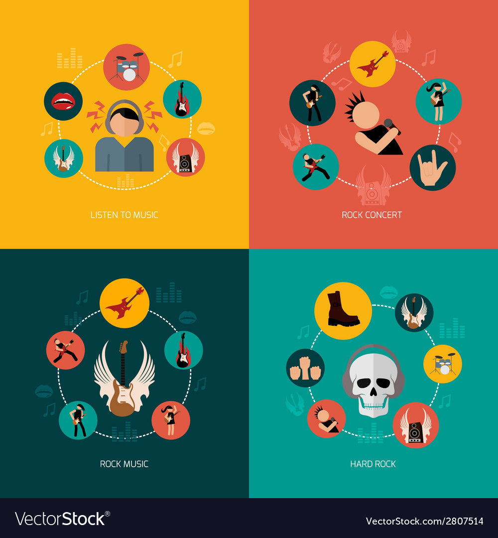 Rock composition flat vector | Price: 1 Credit (USD $1)